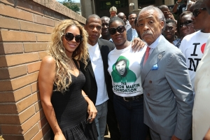 Jay Z and Beyonce join protest against Trayvon's killer