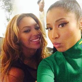 The Queen of Rap slaying with Queen Bey